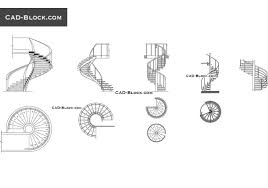 Autocad Kitchen Cabinet Blocks Sample Drawings Staircase Elevation Image Spiral Cad Blockspiral