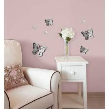 3d butterfly mirror wall decor u2022 bathroom mirrors and wall mirrors