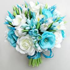 wedding flowers blue and white best turquoise wedding bouquet products on wanelo