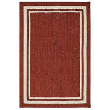 Milliken Area Rugs by Border Loop Garnet Cream 5 Ft X 8 Ft Area Rug 513832 The Home