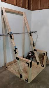 Diy Wood Squat Rack Plans by Diy Homemade Squat U0026 Bench Rack Gym Pinterest Squat