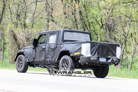 amc jeep truck jt wrangler truck testing on public roads shows spare tire mount