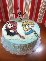 frozen cake elsa pipped buttercream curtis cakes