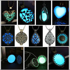 glow in the necklaces new glow steunk magic locket charm women glow in the