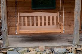 build a log porch swing