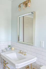 Modern Retro Bathroom After Modern Retro Bathroom Remodel With Classic White Subway