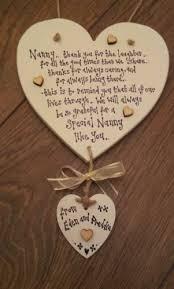 grandparent plaques nan nanny grandad grandparent gift chic heart