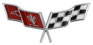 c3 corvette flags c3 corvette 1977 1979 crossed flags nose emblem corvette mods