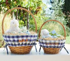 wicker easter baskets chic easter baskets from etsy pottery barn kids