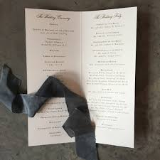 folded wedding program classic mongram tea length folded wedding ceremony program