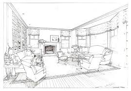 Sketch Interior Design Before And After Vicente Wolf U0027s Living Room Design Sketches