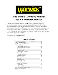 pdf manual for warwick guitar fortress flashback