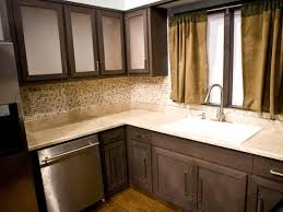 Kitchens With Different Colored Cabinets How To Restain Kitchen Cabinets A Different Color Kitchen Design