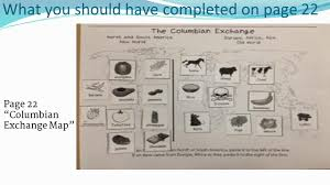Columbian Exchange Map Christopher Columbus U2013 Primary Sources Warm Up Answer In Your