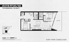 2 Bedroom Condo Floor Plans Garrison Point Condos Preconstruction Fort York Condo