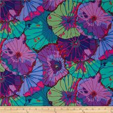 kaffe fassett lotus leaf purple discount designer fabric