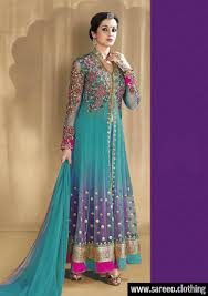 Light Blue Colors by Lattest Fashion Full Work Light Blue Color Designer Suit
