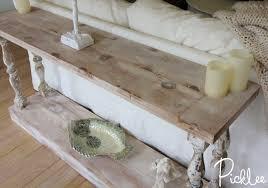 Diy Sofa Table Diy Reclaimed Sofa Table Tutorial Picklee