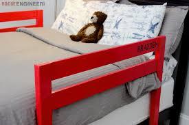 wooden bed rails diy toddler bed rail free plans built for under 15