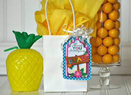 tropical pineapple floral luau party favors traditional hawaiian