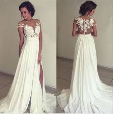 wd09 lace simple charming wedding dresses a line long wedding