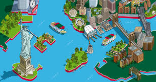 tourist map of new york 101 new york sights map for circle line sightseeing cruises hire