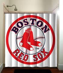 Boston Red Sox Shower Curtain Amazing 80 Boston Red Sox Bathroom Decor Decorating Inspiration
