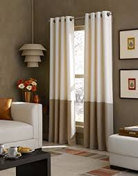 108 Inch Black And White Curtains Amazon Com Curtainworks Kendall Color Block Grommet Curtain Panel