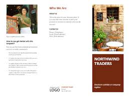 collection of solutions microsoft word 2010 tri fold brochure
