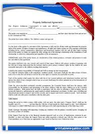 Post Marital Agreement Template Free Printable Predivorce Agreement Form Generic