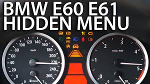 bmw service info icons bmw e60 e61 menu obc mr fix info