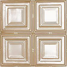 shanko 2 feet x 4 feet brass plated steel nail up ceiling tile