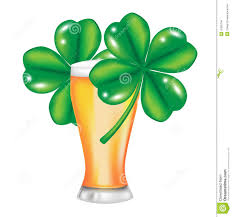 glass of beer and four leaf clover stock images image 26302794
