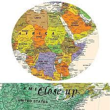 art large size world map wall art natural framed art print