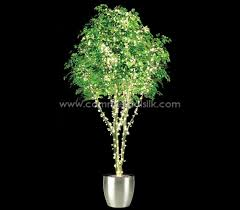 artificial ficus benjamina tree with lights lighted silk ficus trees