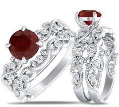 ruby wedding rings wedding ring sets