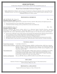 Best Resume Format For Fresher Software Engineers by Download Sample Resume For Software Engineer Sample Resumes