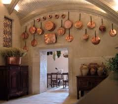 Interior Stucco Wall Designs by French Country Kitchen Hanging Cookware Stone Construction