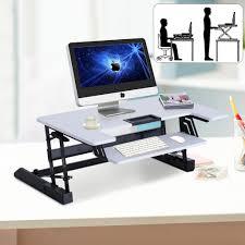 Schreibtisch Elektrisch H Enverstellbar Homcom Sitz Steh Aufsatz Computertisch Schreibtisch Real