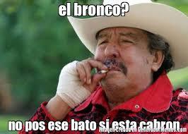 Bronco Meme - el bronco no pos ese bato si esta cabron meme de el viejo paulino