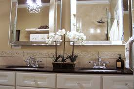 interior elegant bath decor and bath accessories country