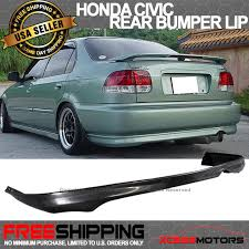 2000 honda civic spoiler 99 00 honda civic 99 00 2 4dr rear bumper lip spoiler bodykit