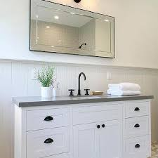 gray shiplap bathroom trim design ideas