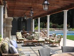backyard backyard with an outdoor kitchen mediterranean style