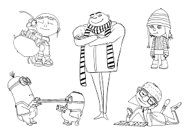 download characters in despicable me coloring pages free or print