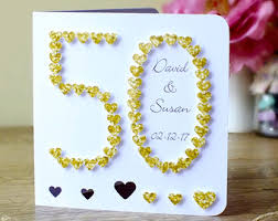 50th wedding anniversary greetings handmade 50th golden wedding anniversary card 50th wedding