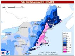 New England Weather Map by Past Events 2015