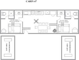 Vacation Cottage Floor Plans Cindy Bear U0027s Double Loft Cottages 45 47 U0026 413 Yogi Bear U0027s