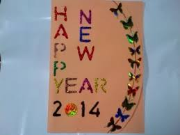 greeting card happy new year 2014 handmade greeting card