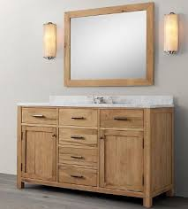 55 Inch Bathroom Vanities by 55 Wooden Bathroom Vanity In Light Walnut Color From Bathroom